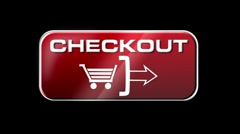 Online Shopping CHECKOUT 01 red LOOP Stock Footage