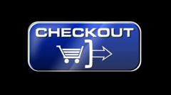 Online Shopping CHECKOUT 03 blue LOOP Stock Footage