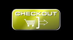 Online Shopping CHECKOUT 04 yellow LOOP Stock Footage