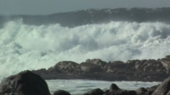 Raging surf - stock footage