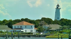 Ocracoke island lighthouse 02 Stock Footage