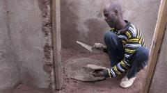 Stock Video Footage of Somalia: Building a latrine