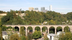Luxembourg - Kirchberg Plateau Stock Footage