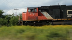 Freight train and engines. - stock footage