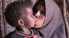 Somalia: Mother Kisses Baby Stock Footage