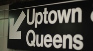 Stock Video Footage of NYC Subway Terminal Sign