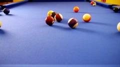Billiard - Full Game - Time Lapse Stock Footage