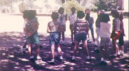 Stock Video Footage of Little KIDS PLAY TAG Children Playing Game FUN 1960s Vintage Film Home Movie 407