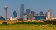 Stock Video Footage of Dallas TX Skyline - HD