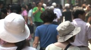 Chinese crowd Stock Footage