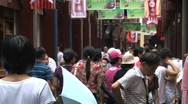 Stock Video Footage of chinese crowd