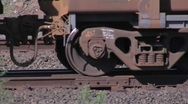 Stock Video Footage of Iron ore train wheels- Port Hedland- Australia
