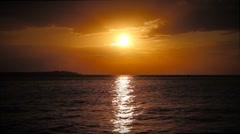 Sunset seascape Stock Footage