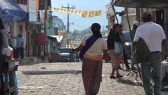 Guatemalan street Stock Footage