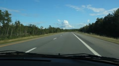 Summer highway. Stock Footage