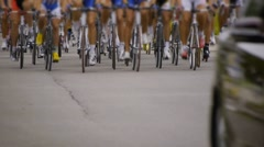 HD - Cycling race. front view - stock footage