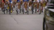 Stock Video Footage of HD - Cycling race. front view