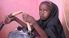 Somalia: Getting Water Stock Footage