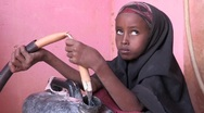 Stock Video Footage of Somalia: Getting Water