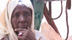 Somalia: Nomadic Woman Stock Footage