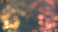 Sparks in water wide Stock Footage