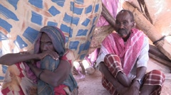 Somalia: Man and one of His Wives - stock footage