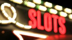 Slot Machine Neon Sign Stock Footage