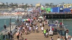 Santa Monica Pier - Time Lapse - stock footage