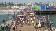 Santa Monica Pier - Time Lapse Stock Footage