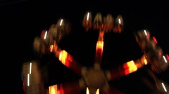 Midway Carnival Lights 10 Stock Footage