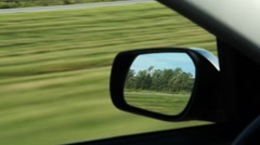 Driver side mirror. Stock Footage
