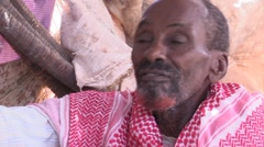 Somalia: IDP Man Tells His Story Stock Footage