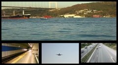 Montage transport HD 1080p Stock Footage