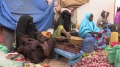 Somalia: Women at the Market Stock Footage