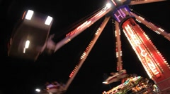 Midway Carnival Lights 12 Stock Footage