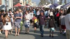 Venice Boardwalk - Time Lapse - stock footage