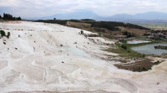 "Pamukkale - ""cotton castle"", Denizli Province in southwestern Turkey Stock Footage"