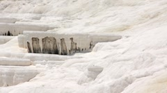Pamukkale - cotton castle, Denizli Province in southwestern Turkey - stock footage