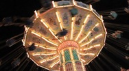 Midway Carnival Lights 15 Stock Footage
