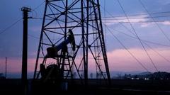HD Fossil Fuel Energy, Oil Pump, Pumpjack, Old Pumping Unit, Jack Pump, Sunset - stock footage