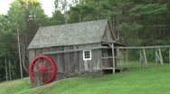 Stock Video Footage of Water Wheel and Pond Pan