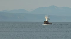 Fishing Trawler Steaming Through Calm Waters - stock footage