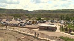 Royal Tyrrell Museum of Palaeontology, Drumheller, AB - stock footage
