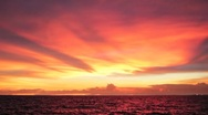 Stock Video Footage of Amazing Red Sunset Sky over Ocean