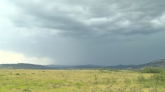 Weather, lightning strikes, afternoon storm on the prairie, #12 Stock Footage