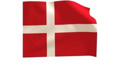 Danish flag_018 Stock Footage