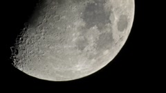 Moon ultra close up extreme focal length time lapse - slow Stock Footage