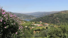 Douro River vista in Portugal Stock Footage
