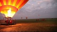 Stock Video Footage of Hot Air Balloon Ready for Take-Off in Masai Mara