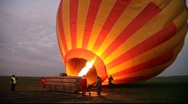 Stock Video Footage of Balloon Inflates as Burners Ignite